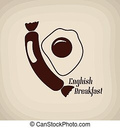 poster, ontbijt, engelse