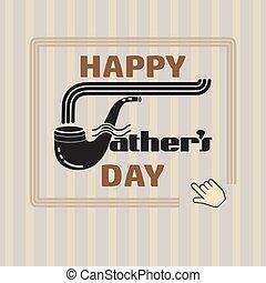 poster., pais, ilustração, vetorial, dia, feliz
