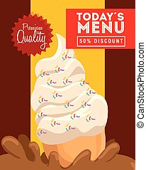 poster premium quality authentic delicious ice cream