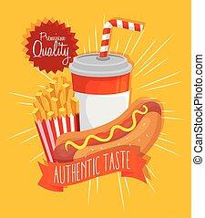 poster premium quality authentic taste fast food