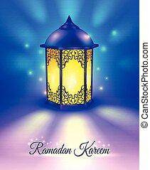 poster, ramadan, gekleurde