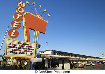 poster red motel in Las Vegas, Usa