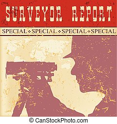 Poster report of surveyor - Poster report of a surveyor in...