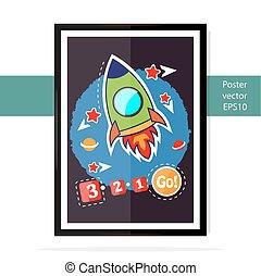 Poster rocket kid.