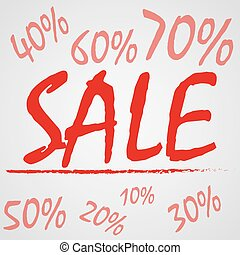 Poster Sale to specify the percentage discounts. Vector illustration