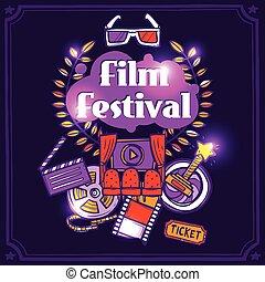 poster, schets, bioscoop