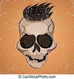 Poster skull illustration