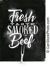 Poster smoked beef chalk