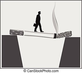 Poster Smoking kills - Conceptual poster about the dangers ...