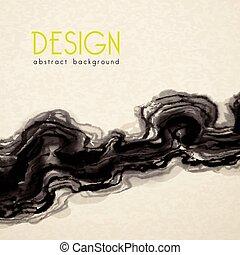 poster, stijl, schilderij, inkt