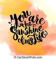 poster-sun, tytuł, życie, natchnienie, światło słoneczne, ...