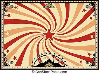 poster, sunbeams, circus, horizontaal, draaikolk