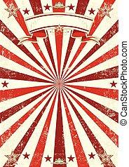 poster, sunbeams, rood