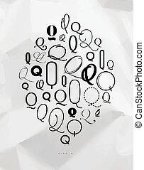 Poster symbol q - Poster hand drawn decoration symbol q ...
