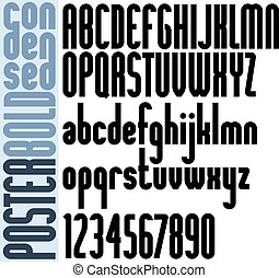 Poster Tall Classic style font with rounded corners. -...