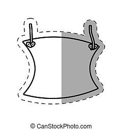 poster template blank cut line vector illustration eps 10
