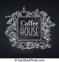 coffee house design chalkboard