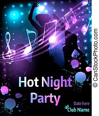 Poster template for party