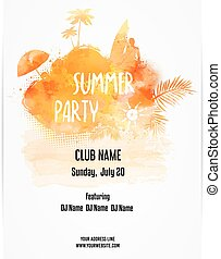 Poster template for summer party
