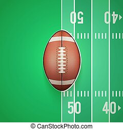 Poster Template of American Football Ball
