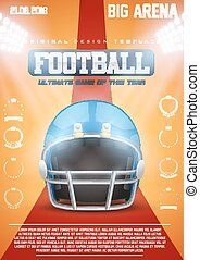 Poster Template of American Football Helmet