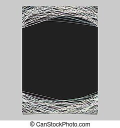 Poster template with random arched stripes - vector document graphic on black background