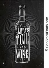Poster time for wine chalk