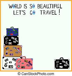 poster:, travel!, (with, spazio, text), bello, lasciarli, così, andare, mondo, tuo