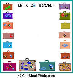 poster:, travel!, (with, spazio, text), lasciarli, andare, tuo