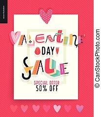poster, valentines dag, verkoop
