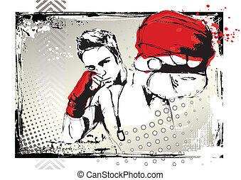 poster, vecht