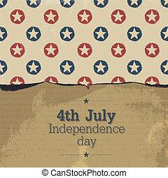 poster., vendimia, vector, eps10, día, independencia