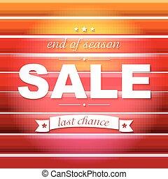 poster, verkoop, rood, tekst