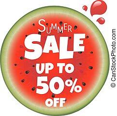 poster, watermeloen, verkoop