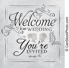 Poster Welcome to our wedding coal - Wedding lettering...