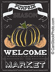 Poster with a pumpkin theme on the market