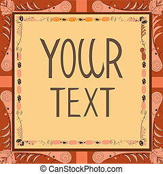 Poster with a space for your text, vector illustration.