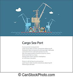 Poster with Cargo Seaport