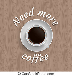 poster with cup of coffee