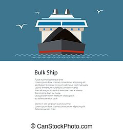 Poster with Dry Cargo Ship