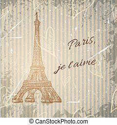 poster with Eiffel Tower