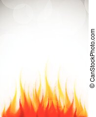 Poster with fire