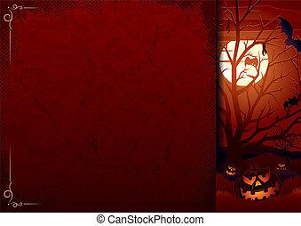 Poster with Halloween Pumpkins