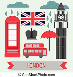 Poster With London Symbols and Landmarks