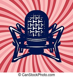 poster with professional studio microphone and background