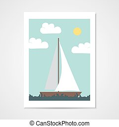 Poster with sailboat.