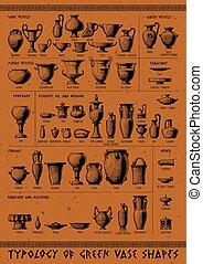 Typology of Greek vase shapes. - Poster with Typology of ...