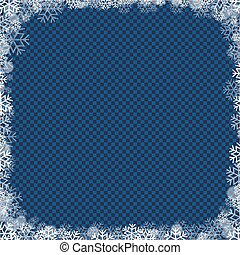 Poster With Winter Border Blue Background