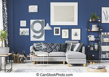 Posters in living room