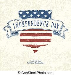 postertemplate., vector, día, independencia